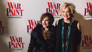 No rivalry here—only girl power! Catch Patti LuPone and Christine Ebersole in War Paint at the Nederlander Theatre.