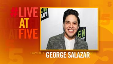 Broadway.com #LiveatFive with George Salazar of <i>The Lightning Thief</i>