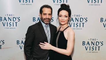 The Band's Visit stars Tony Shalhoub and Katrina Lenk get together.