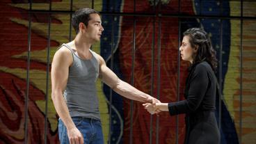Juan Castano as Oedipus and Sandra Delgado as Jocasta in Oedipus El Rey.