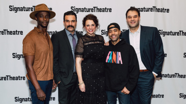 Jesus Hopped the A Train's Edi Gathegi, Ricardo Chavira, Stephanie DiMaggio, Sean Carvajal and Erick Betancourt are all smiles for their off-Broadway opening.