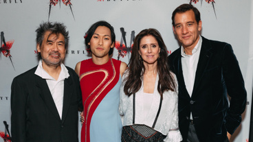 Dream team! M. Butterfly scribe David Henry Hwang, star Jin Ha, director Julie Taymor and star Clive Owen celebrate opening night.