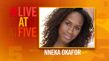 Broadway.com #LiveatFive with Nneka Okafor of <i>Too Heavy For Your Pocket</i>