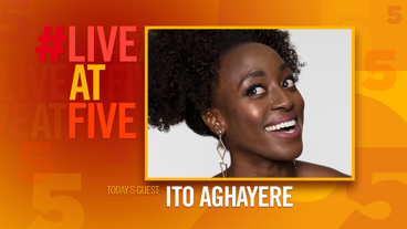 Broadway.com #LiveatFive with Ito Aghayere of Junk