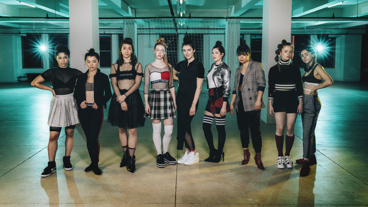 Paola Sanchez Abreu, Midori Francis, Jenna Dioguardi, Sarah Mezzanotte, Brenna Coates, Tedra Millan, Lizzy Jutila, Susannah Perkins and Samia Finnerty.