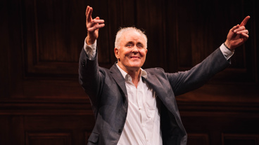 John Lithgow takes in the crowd on opening night.