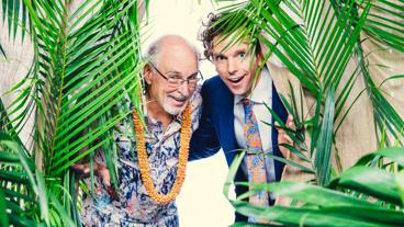 Jimmy Buffett and Escape to Margaritaville star Paul Alexander Nolan