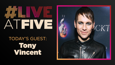 Broadway.com #LiveatFive with Tony Vincent of <i>Rocktopia</i>