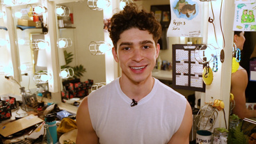 The Broadway.com Show: Once On This Island's Isaac Powell Shows Off His Dressing Room Oasis
