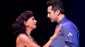 Nancy Ticotin as Gloria Fajardo and Jason Martinez as José Fajardo in the national tour of On Your Feet.