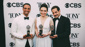 The Band's Visit stars Ari'el Stachel, Katrina Lenk and Tony Shalhoub pose with their awards.