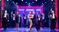 Deborah Cox as Rachel Marron, Judson Mills as Frank Farmer & the cast of The Bodyguard.